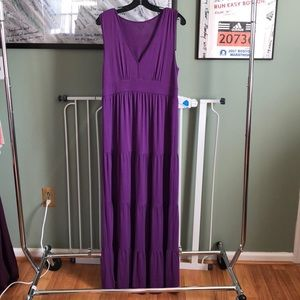 NWT Garnet Hill Tiered Maxi Dress, size M